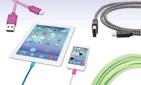 Aduro Apple-Certified Sync and Charge Cloth Lightning-to-USB Cables