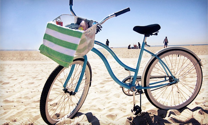 Bike Curious Rentals - Venice: Full-Day Beach-Cruiser Rental for One, Two, or Four at Bike Curious Rentals (Up to 56% Off)