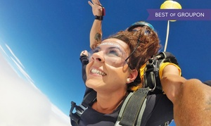 Edmonton Skydive: Tandem Jumps at Edmonton Skydive Centre (Up to 41% Off). Three Options Available.