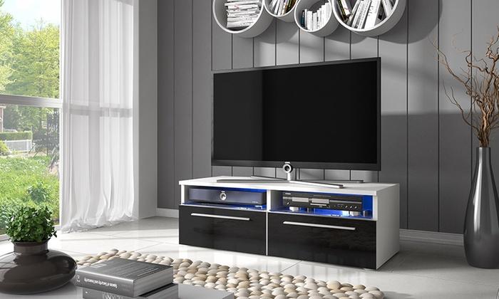 meuble tv avec led groupon shopping. Black Bedroom Furniture Sets. Home Design Ideas