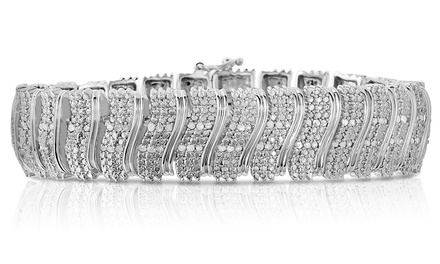 2.00 CTTW Genuine Diamond Bracelet