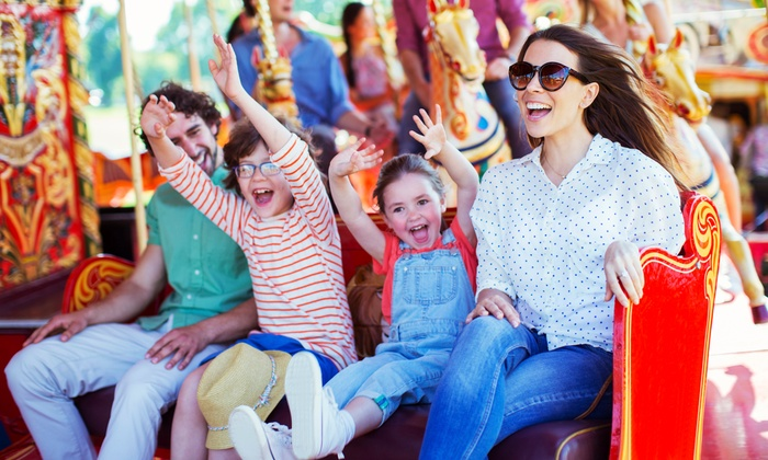 Oaks Park - Sellwood - Moreland: Unlimited Rides for Family of Four, Six, or Eight on July 30 at Oaks Park (Up to 45% Off)