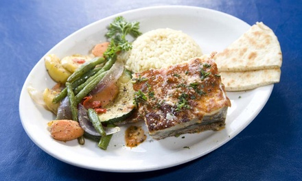 Greek Cuisine for Dinner at Tassos (50% Off). Two Options Available.