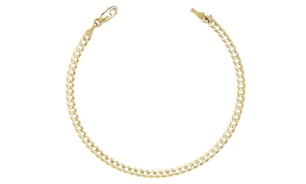 Women's 12K Gold Plate Cuban Chain Anklet