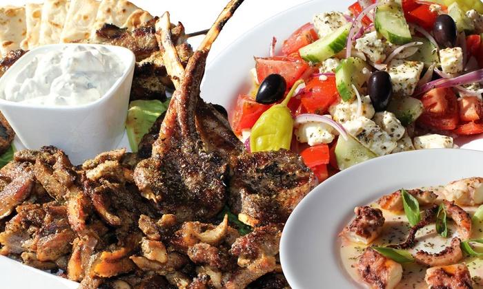 Pontos Taverna - Central Norwalk: Greek Lunch for Two or Four at Pontos Taverna in Norwalk (Up to 56% Off)