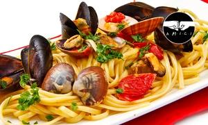 Ristopescheria I Sapori del Mare: Menu di pesce con 4 portate e bottiglia di vino (sconto fino a 69%)