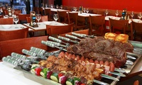 £14.99 for an All-You-Can-Eat Rodizio Barbecue Meal For One with Wine at Rodizio Brazil