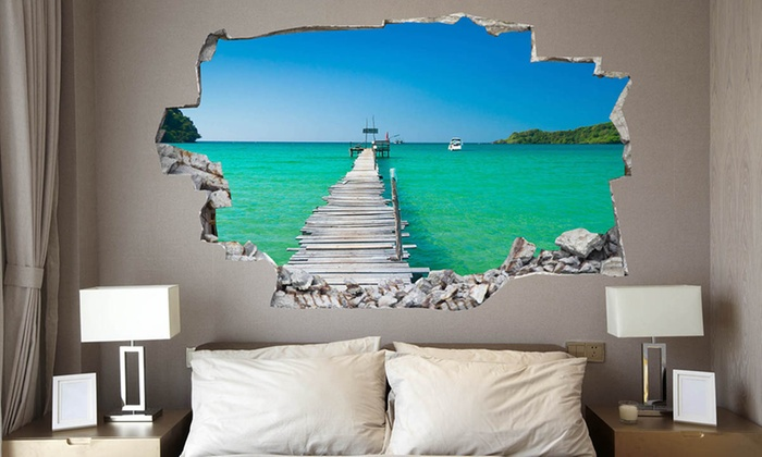 Amazing 3d Wall Decals Groupon Goods