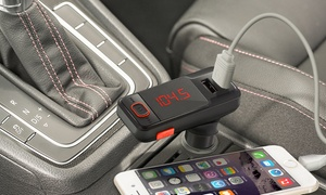 Aduro Bluetooth FM Transmitter & Dual-USB Car Charger