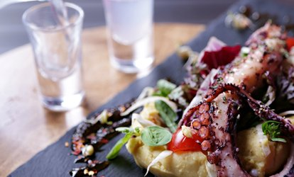Two- or Three-Course Greek Lunch with Wine for One or Two at The Life Goddess (Up to 69% Off)