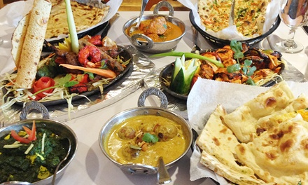 Indian Dinner with Wine or Indian Dinner Buffet for Two or Four at Bombay Grill (Up to 53% Off)