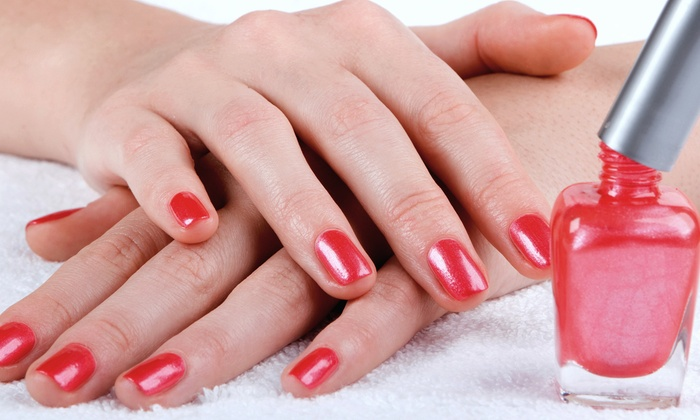 Extatic Salon & Spa - Middle Village: One or Three Shellac Manicures at Extatic Salon & Spa (Up to 53% Off)