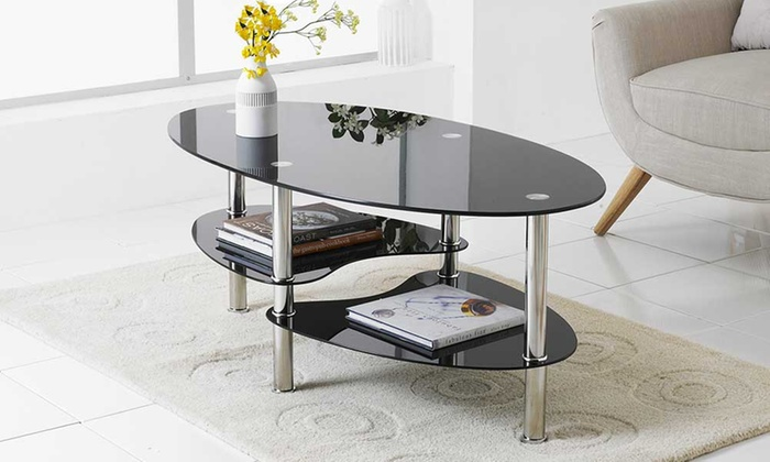 Glass And Chrome Coffee Tables Groupon Goods