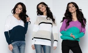 Pull femme colorblock modèles Lenka et Lorraine
