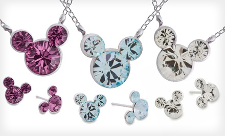 Mickey Birthstone Earrings and Pendant. Multiple Styles Available. Free Returns.