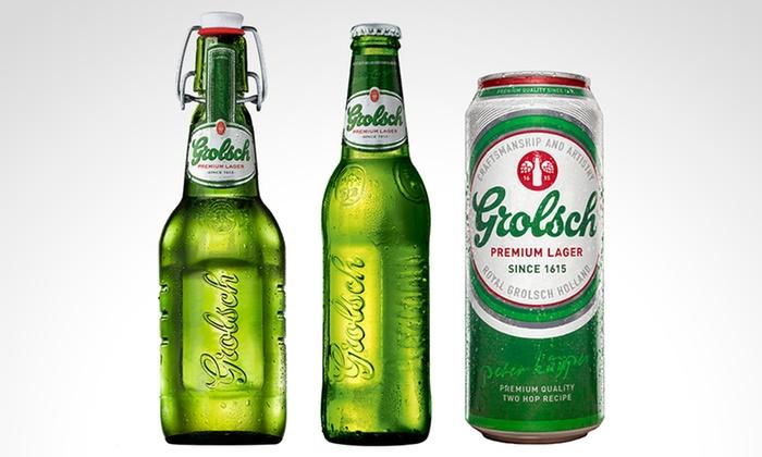 Grolsch - Múltiples sucursales: Desde $235 en vez de $335 por latas, porrones o botellas de cerveza Grolsch para retirar en sucursal