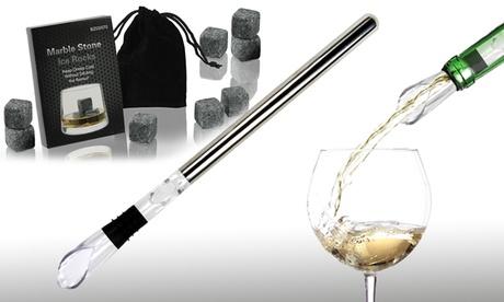 Barra enfriadora y aireadora de botella de vino y/o piedras para enfriar bebidas