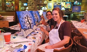 Paint Party Express: Paint Party for One, Two, or Four at Paint Party Express (Up to 38% Off)