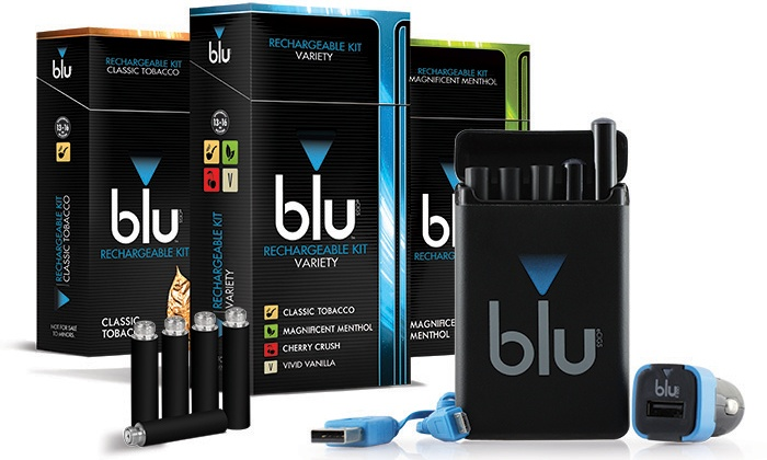 blu eCigs: $17.50 for a blu eCigs Rechargeable E-Cigarette Kit ($34.99)