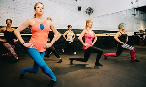 The Barre Code Plano: Three or Five Barre Classes at The Barre Code (Up to 45% Off)
