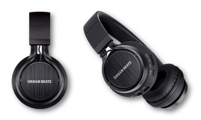 Wireless bluetooth headphones groupon goods urban beatz status wireless bluetooth headphones with mic fandeluxe Images