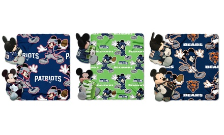 Disney's Mickey Mouse NFL Throw Blanket and Hugger