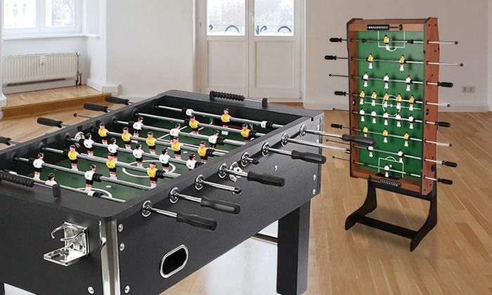 Groupon Goods Global GmbH: Table de jeu de football Champion, pliable ou avec chrome, design de choix, dès 11,99 €