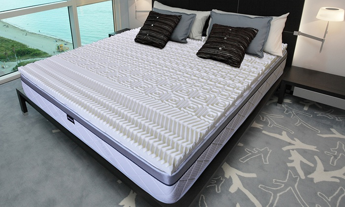 surmatelas m moire de forme groupon. Black Bedroom Furniture Sets. Home Design Ideas