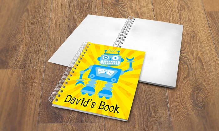 Dinkleboo: One, Two, Three, Four, Five, or Six Personalized Sketch Books for Kids from Dinkleboo (Up to 74% Off)