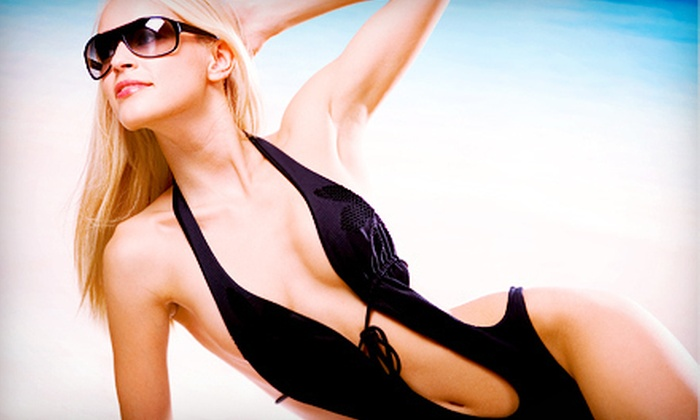 Sundrops - Calgary: Sundrops Spray Tan or Sundrops Spray Tan with Cellulite-Reduction Serum at Sundrops (Up to 58% Off)