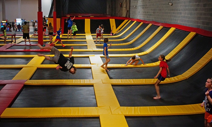Stratosphere Trampoline Park - Eldersburg: Two Hours of Jump Time for Two or Four People at Stratosphere Trampoline Park (Up to 32% Off)