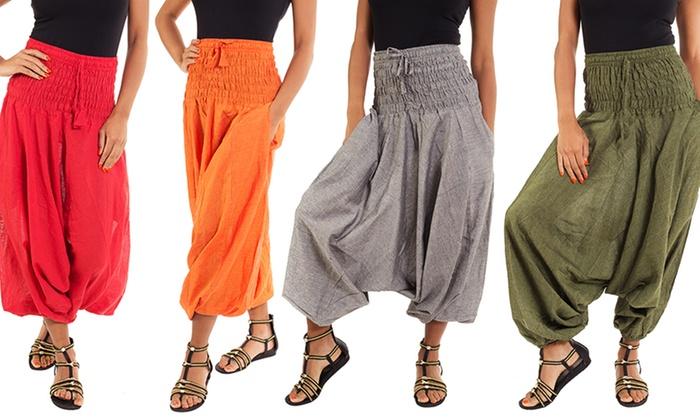 Wide Waist Boho Harem Pants