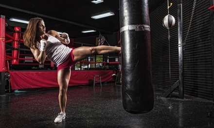 Group Fitness Classes or One Month of Unlimited Classes and Gym Access at Powerhouse Kickboxing (Up to 75% Off)