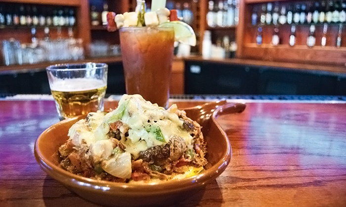 School Yard Bar & Grill - Lower East Side: $20 for Two Brunch Entrees and Two Mimosas at School Yard Bar & Grill (Up to $34 Value)