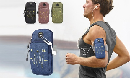 Waterproof Sports Running Armband Phone Bag: One ($12.95) or Two ($19.95)