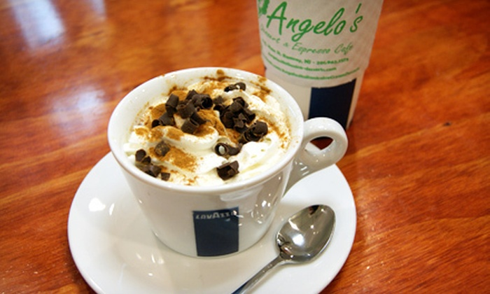 Angelo's Desserts and Espresso Cafe - Ramsey: $9.99 for $21 Worth of Hot Beverages or Desserts at Angelo's Desserts and Espresso Cafe