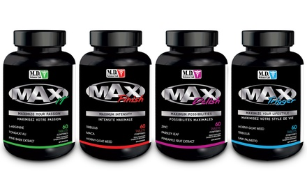 One 60-Tablet Bottle of MD Science Lab Max Male Enhancement Supplements
