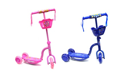 3-Wheeled Toy Bike Scooter in Blue or Pink. Free Returns.