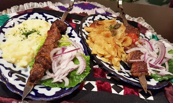 Silk Road Choyhona - Gaithersburg: Shish-Kebab Dinner for Two or Four at Silk Road Choyhona (Up to 51% Off)