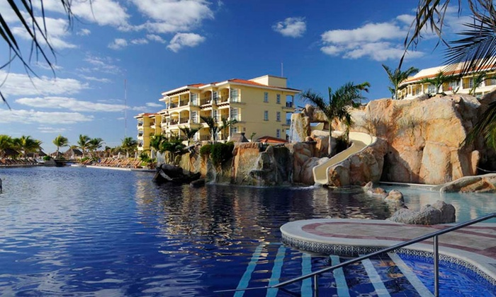 All-Inclusive Hotel Marina El Cid Trip with Airfare from Vacation Express - Riviera Maya, Mexico: ✈ All-Inclusive Hotel Marina El Cid Stay with Airfare. Includes Taxes and Fees. Price/Person Based on Double Occupancy.