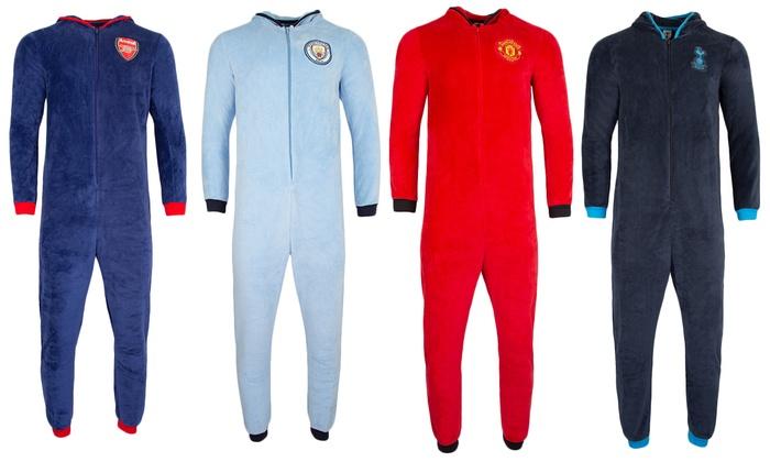 Kids Hooded Licensed Football Club Fleece Jumpsuit