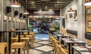 Entrepuertas: Menú para dos o cuatro personas con entrante, principal, postre y bebida desde 19,95 € en Entrepuertas
