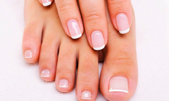 Jessi's Nails & Spa - Eugene: One or Two Gel Manicures and Spa Pedicures or French Tip Acrylics with Fills at Jessi's Nails & Spa (Up to 59% Off)