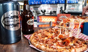 The Growler Guys - East Bend: Pizza and Beer Package for Dine-In or Carry-Out at The Growler Guys - East Bend (Up to 57% Off)