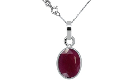 2.25 CTW Oval Ruby Pendant