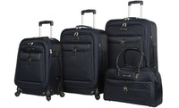 Groupon.com deals on Rosetti Amelia Fashion Expandable Spinner Luggage Set 4-Pc