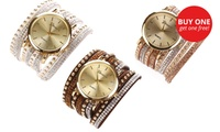 Two for One: Geneva Faux Suede Wrap-Around Watch for R329 Including Delivery (34% Off)
