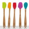 5-Piece Bamboo and Silicone Mini Kitchen Utensil Set