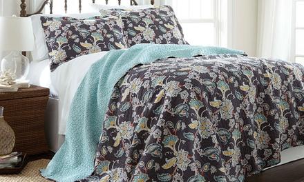 100% Cotton Reversible Quilt Set (2- or 3-Piece)