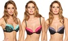 3-Pack of Black Fuchsia Cage-Back Bras: 3-Pack of Black Fuchsia Cage-Back Bras